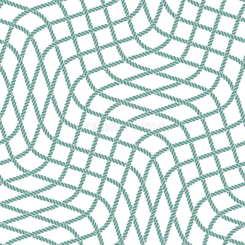 Безшовная морская картина веревочки бесплатная иллюстрация
