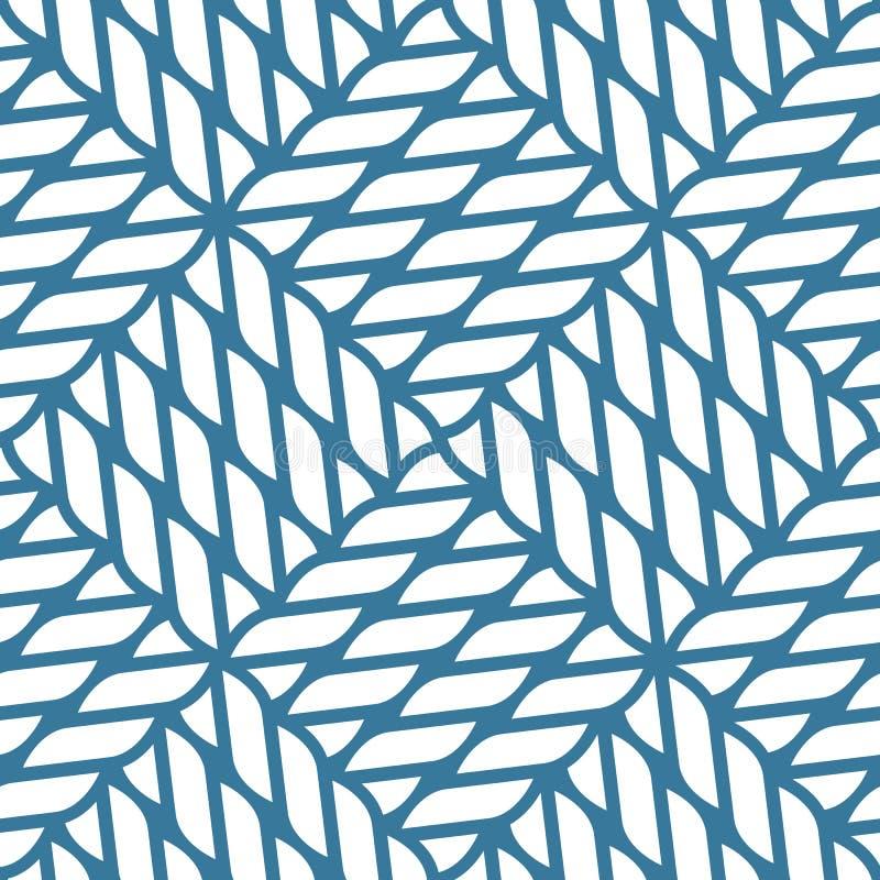 Безшовная морская картина узла веревочки, рыболовная сеть иллюстрация вектора