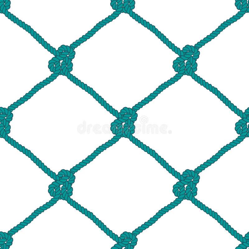 Безшовная морская картина узла веревочки иллюстрация штока