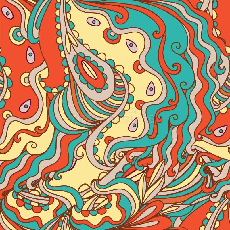 Безшовная нарисованная вручную картина иллюстрация вектора