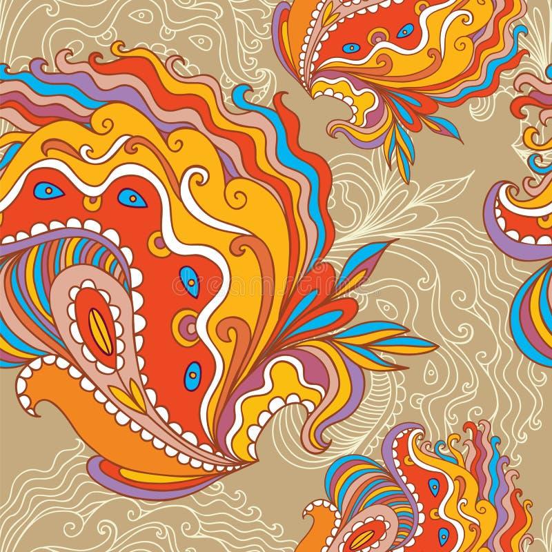 Безшовная нарисованная вручную картина иллюстрация штока