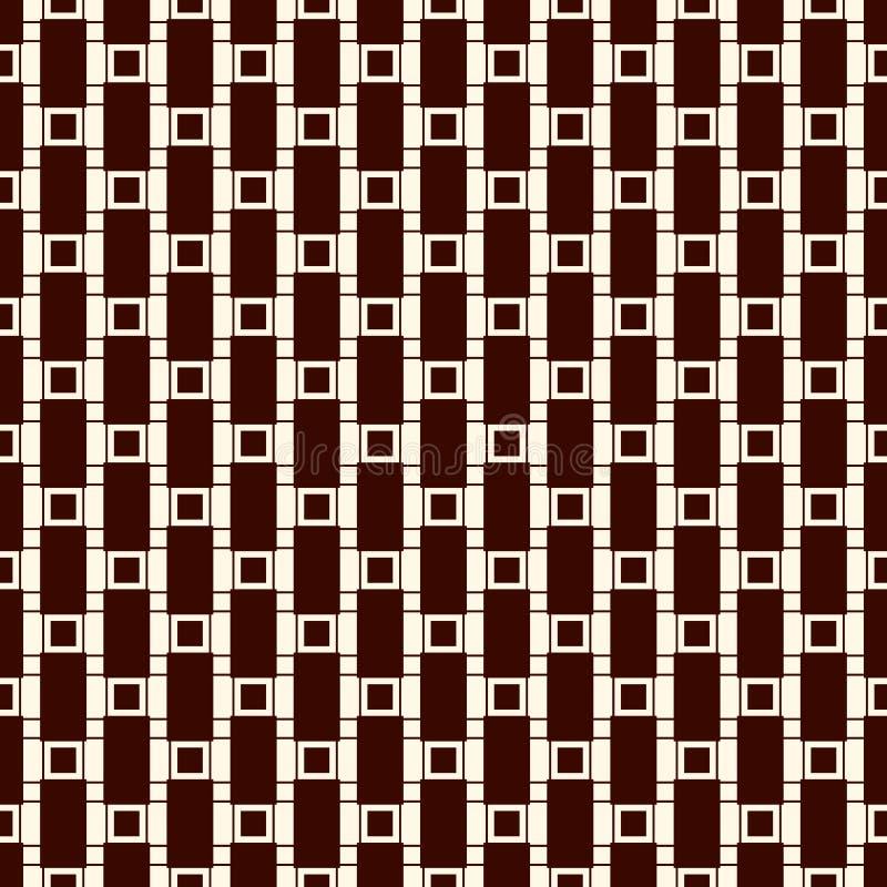 Безшовная поверхностная картина с ходами и квадратами Сломленные вертикальные линии Бросает мотив Повторенные блоки прямоугольник бесплатная иллюстрация