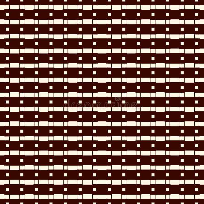 Безшовная поверхностная картина с ходами и квадратами Сломленные горизонтальные прямые Бросает мотив Повторенные блоки прямоуголь бесплатная иллюстрация