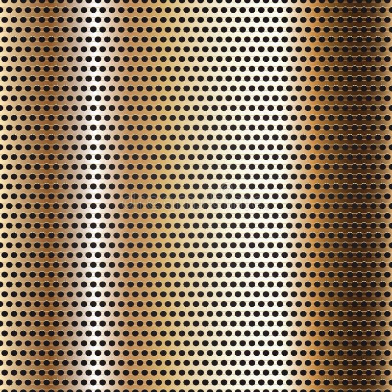 Безшовная поверхность металла крома, предпосылка бесплатная иллюстрация
