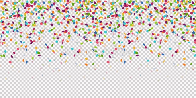 безшовная покрашенная предпосылка confetti с прозрачностью вектора иллюстрация штока