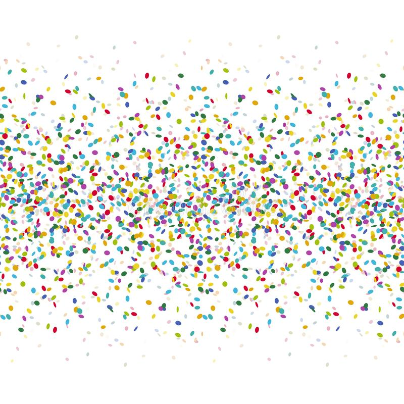 безшовная покрашенная предпосылка confetti бесплатная иллюстрация