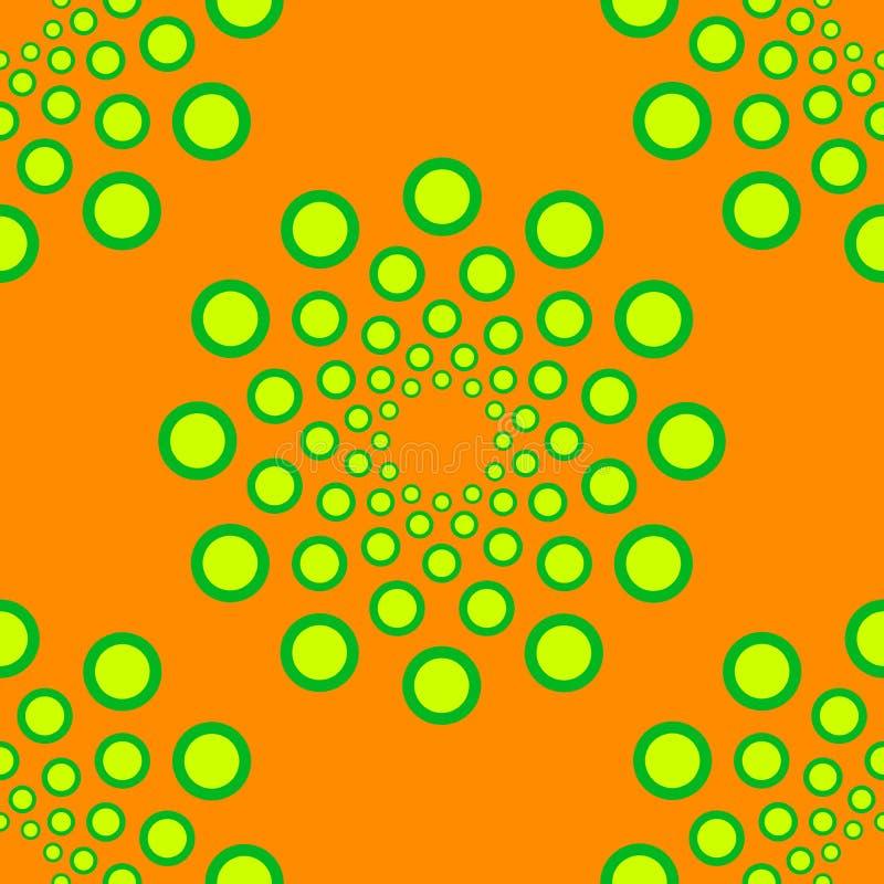 Безшовная поставленная точки картина кругов Повторять вектора иллюстрация штока