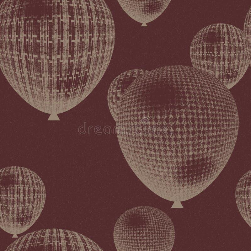 Безшовная предпосылка воздушного шара иллюстрация вектора