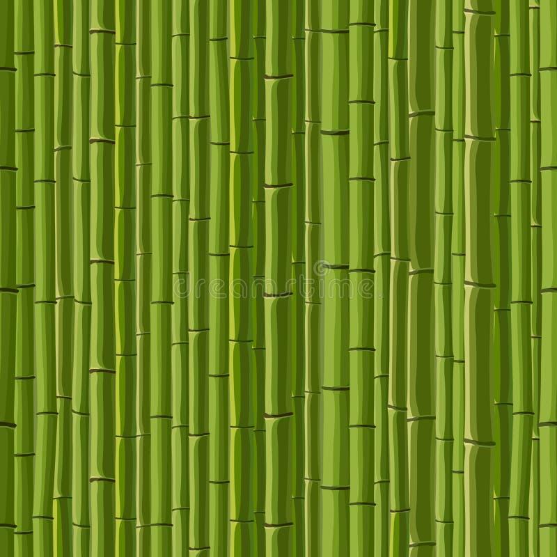 Безшовная предпосылка зеленого бамбука стены. иллюстрация вектора