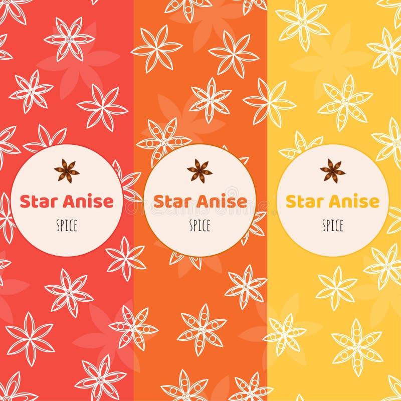 Безшовная предпосылка Картина с звездами анисовки Badian упаковывать бесплатная иллюстрация
