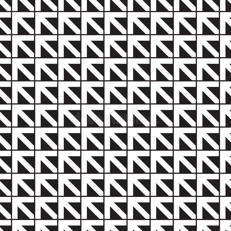 Безшовная предпосылка картины стрелки направления иллюстрация вектора