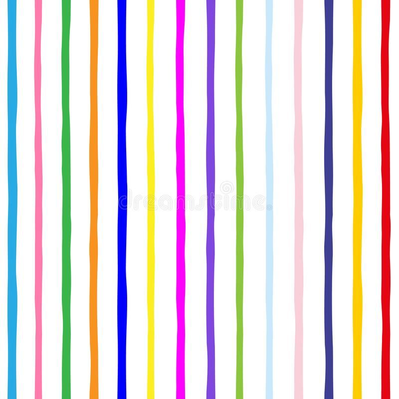 Безшовная предпосылка картины Striped пестротканое Текстура ` s детей Смогите быть использовано для обоев, заполнений картины, ba бесплатная иллюстрация