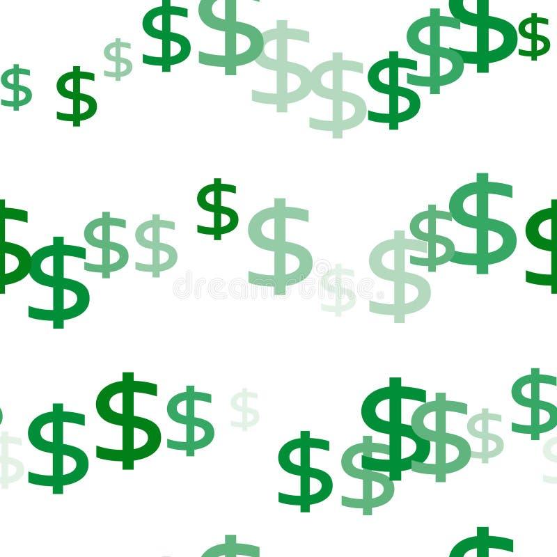 Безшовная предпосылка символа валюты денег доллара иллюстрация вектора