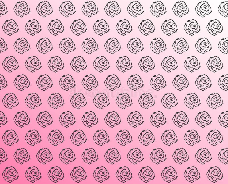 Безшовная предпосылка с розовым стилем роз стоковое изображение