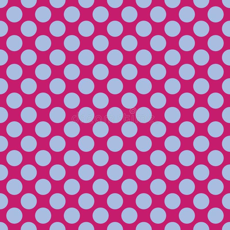 Безшовная предпосылка текстуры точечного растра польки иллюстрация штока