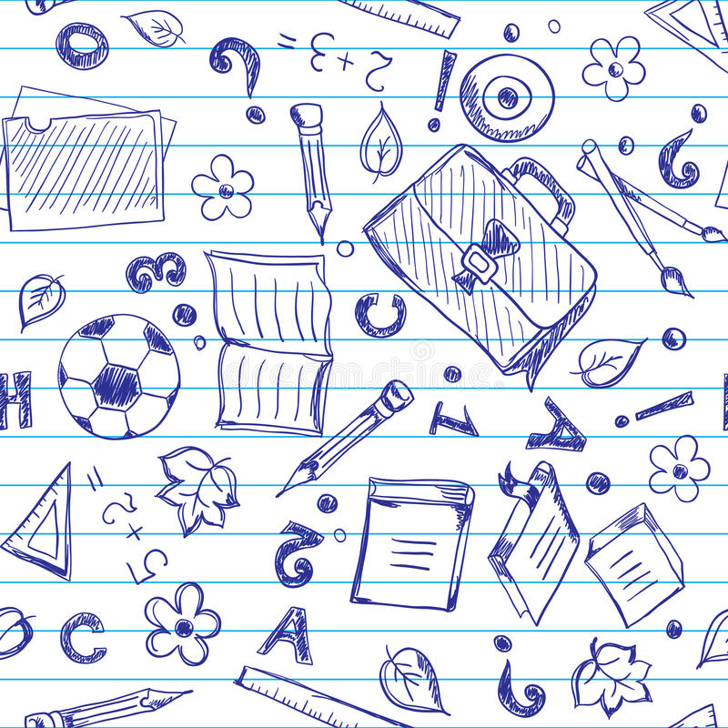 Безшовная предпосылка школы иллюстрация вектора