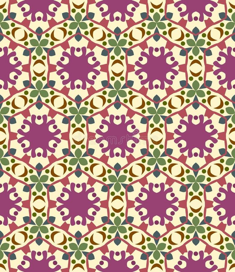 Безшовная предпосылка, картина с цветками иллюстрация штока