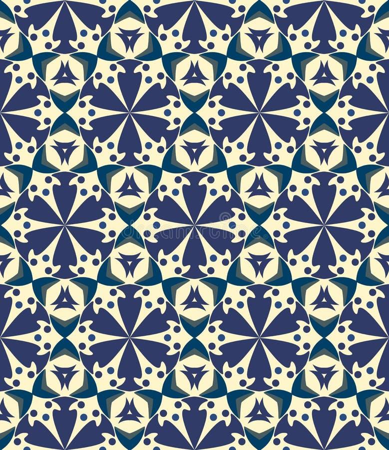 Безшовная предпосылка, картина с цветками иллюстрация вектора