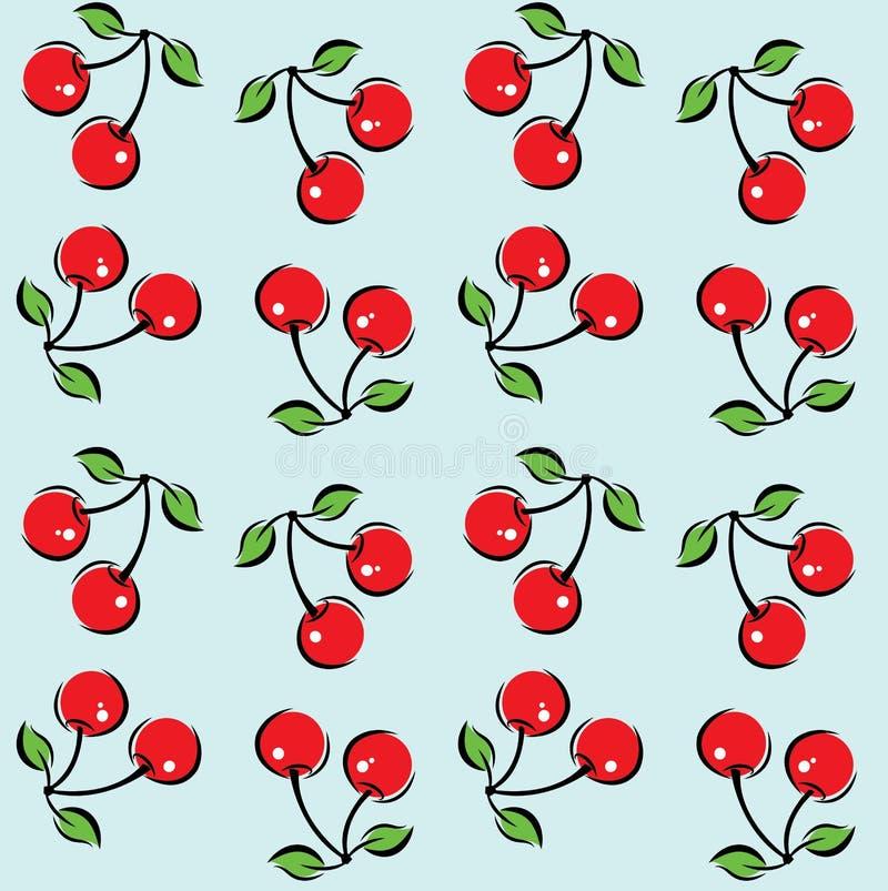 Безшовная предпосылка картины вишни бесплатная иллюстрация