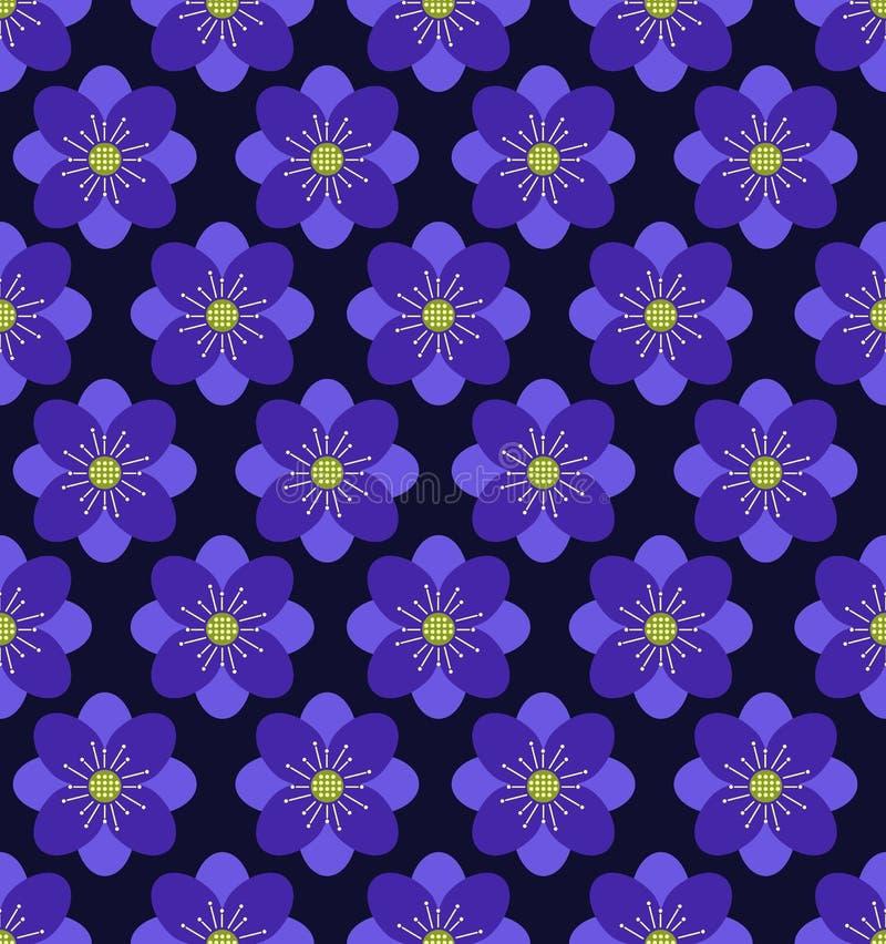 Безшовная предпосылка картины цветка, фиолетовая предпосылка стоковое изображение