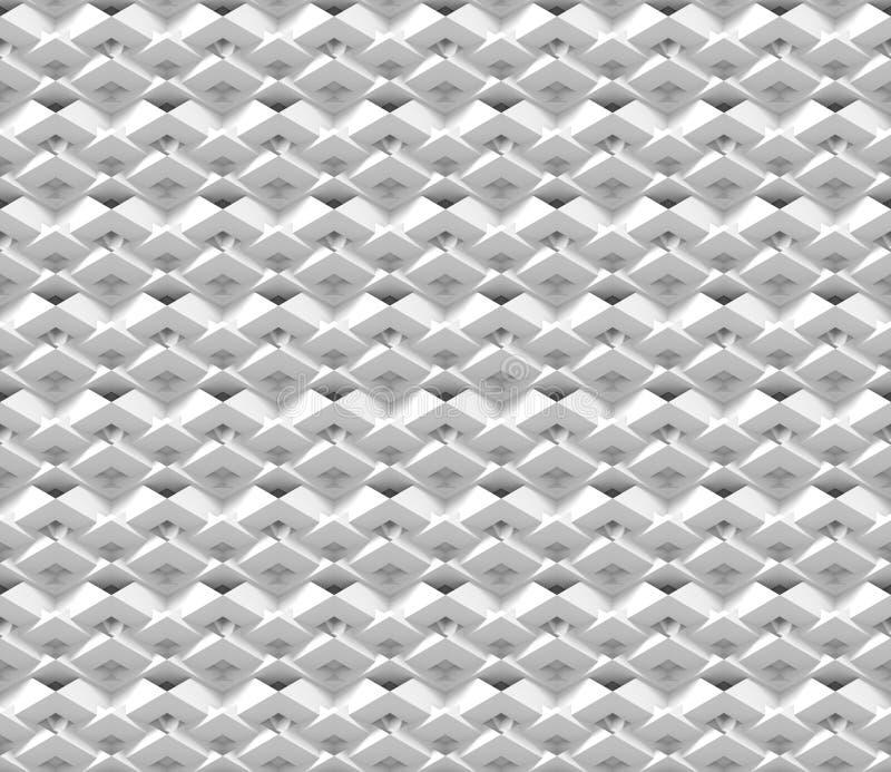Безшовная предпосылка конспекта 3d сделанная из белых полигональных структур бесплатная иллюстрация