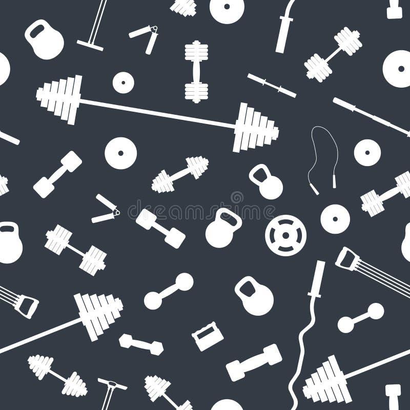 Безшовная предпосылка от спортивного инвентаря, иллюстрации вектора бесплатная иллюстрация