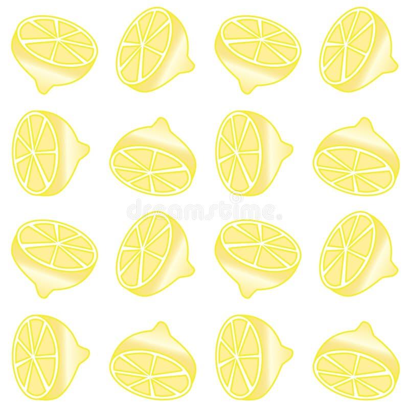 Безшовная предпосылка печати лимона бесплатная иллюстрация