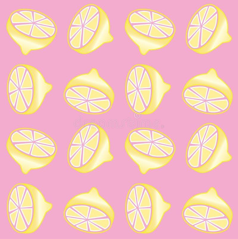 Безшовная предпосылка печати лимона иллюстрация штока