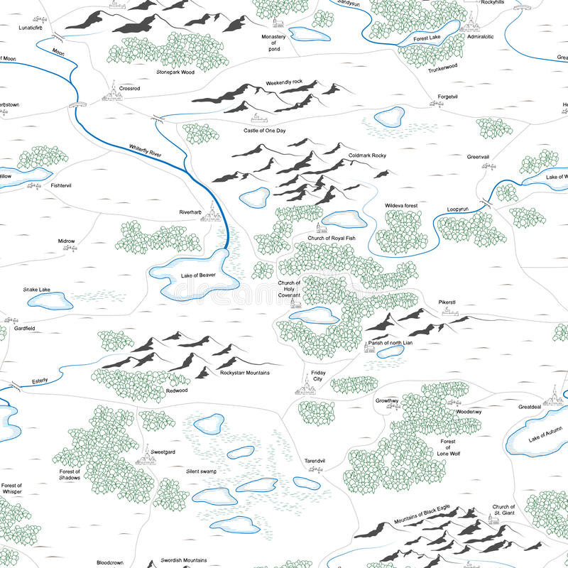 Безшовная предпосылка покрашенной карты. иллюстрация штока