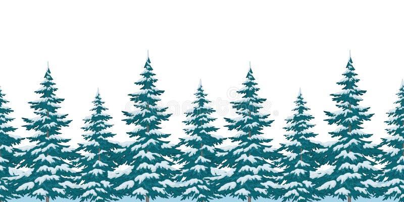 Безшовная предпосылка, рождественские елки бесплатная иллюстрация