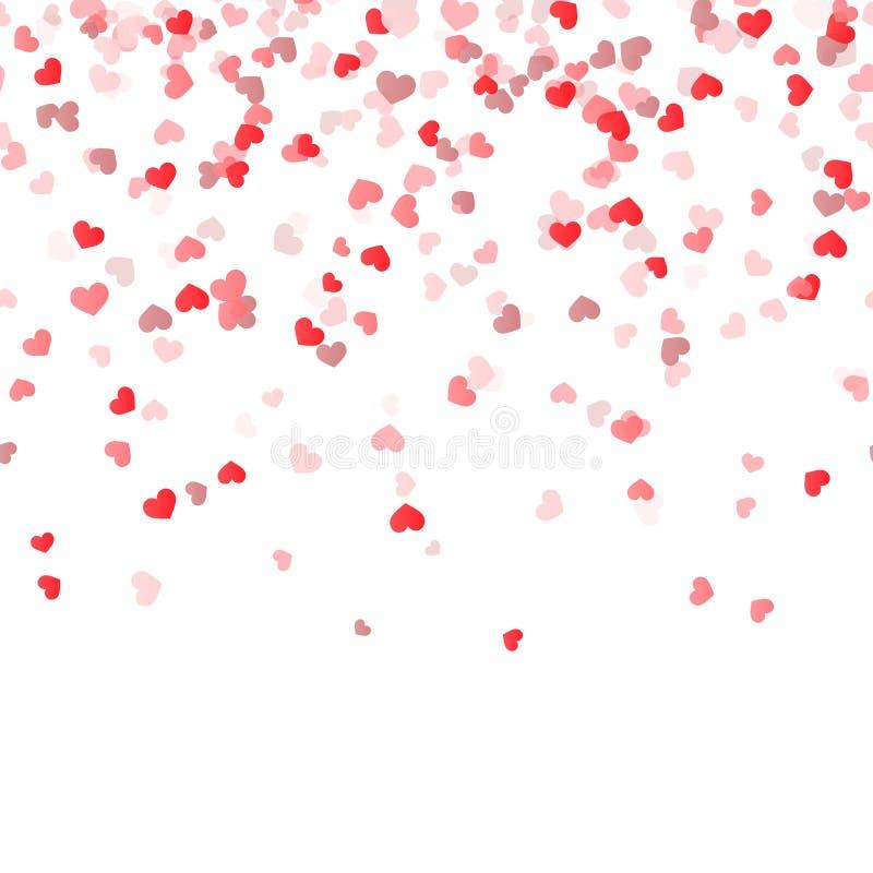 безшовная предпосылка сердец confetti иллюстрация вектора