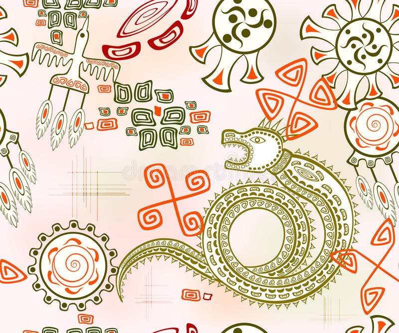 Безшовная предпосылка с золотым драконом Иллюстрация вектора EPS10 иллюстрация вектора