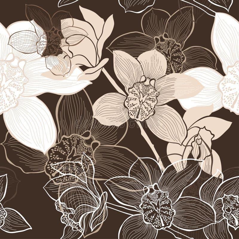 Download Безшовная предпосылка с орхидеями Иллюстрация штока - иллюстрации насчитывающей иллюстрация, орхидея: 37926053