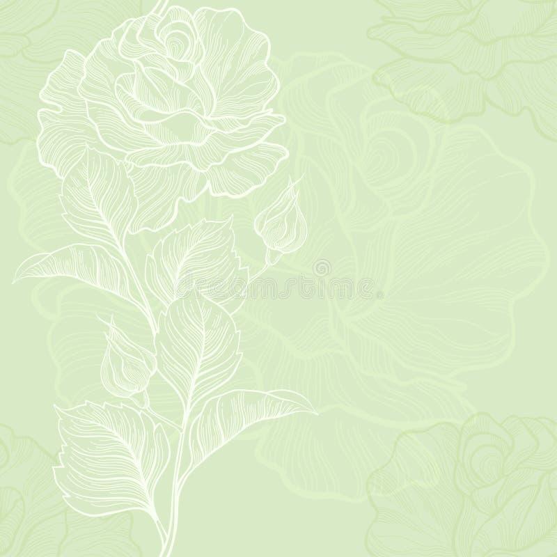 Download Безшовная предпосылка с розами. Иллюстрация штока - иллюстрации насчитывающей vintage, иллюстрация: 37926048