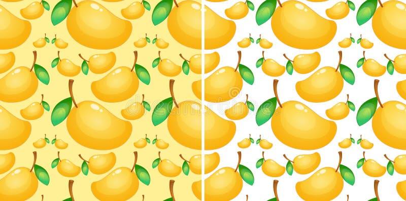 Безшовная предпосылка с свежим манго иллюстрация штока