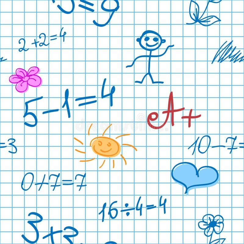 Безшовная предпосылка с формулами математики бесплатная иллюстрация