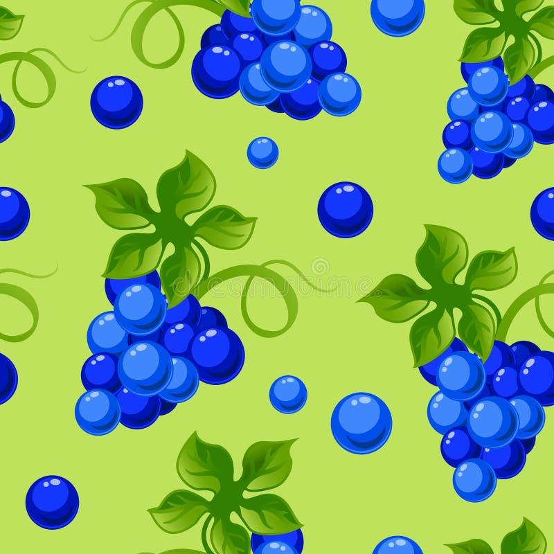 Безшовная предпосылка с яркими свежими виноградинами jucy иллюстрация вектора