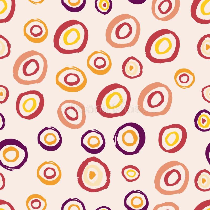 Безшовная предпосылка с multi покрашенными кругами бесплатная иллюстрация