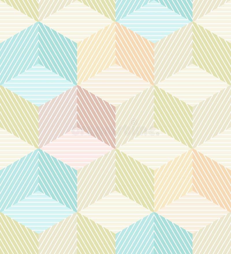 Безшовная предпосылка с striped кубами бесплатная иллюстрация