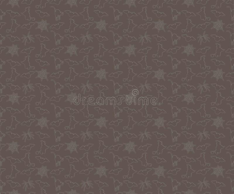 Безшовная предпосылка хеллоуин стоковое изображение