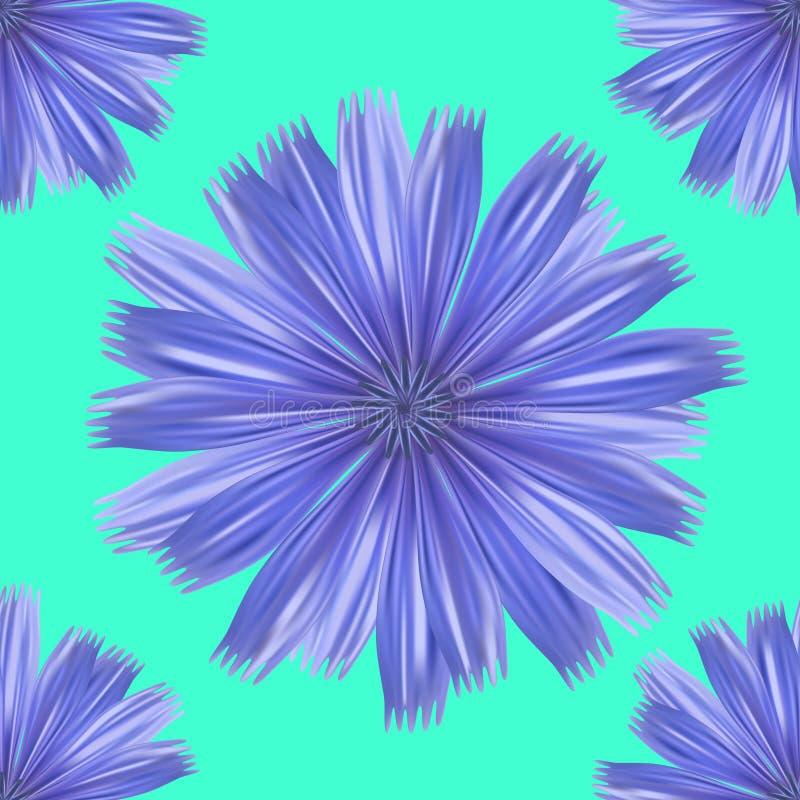 Безшовная предпосылка цветочного узора бирюзы иллюстрация вектора