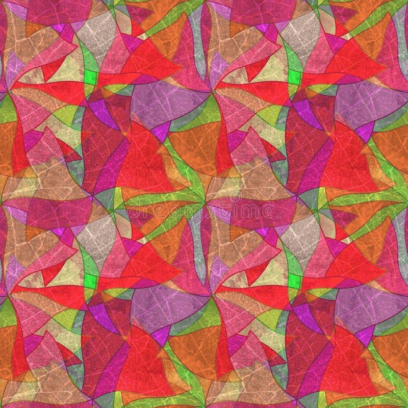 Безшовная предпосылка grunge, kaleidoscopic ярко пестротканая картина, иллюстрация вектора