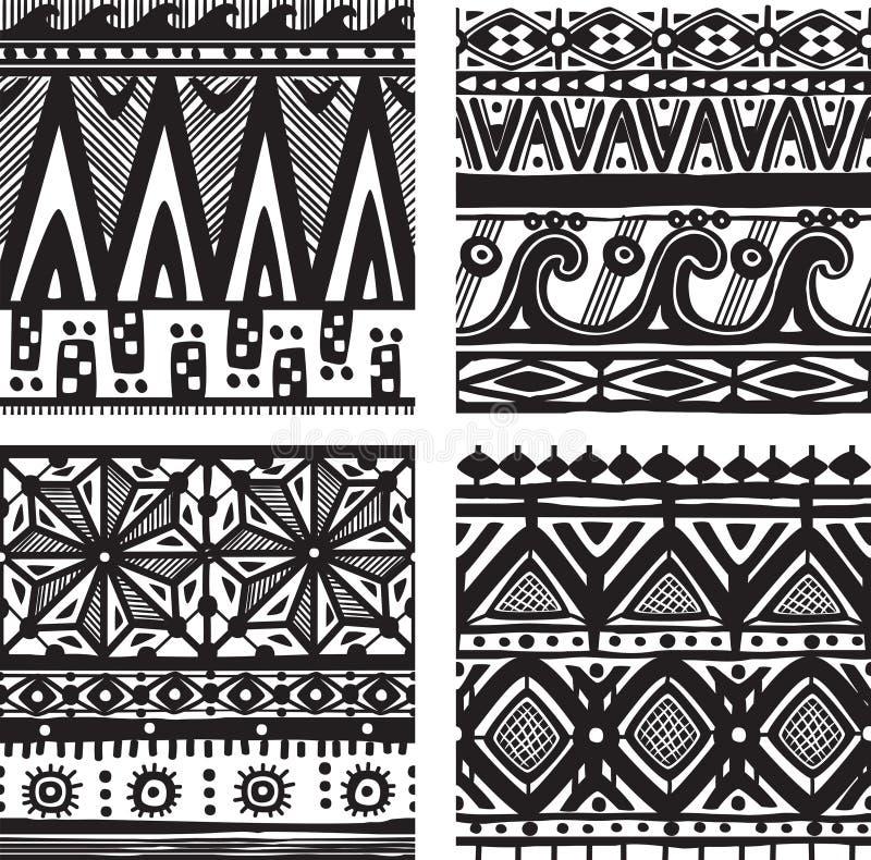 Безшовная племенная текстура бесплатная иллюстрация