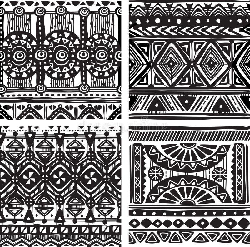 Безшовная племенная текстура иллюстрация штока