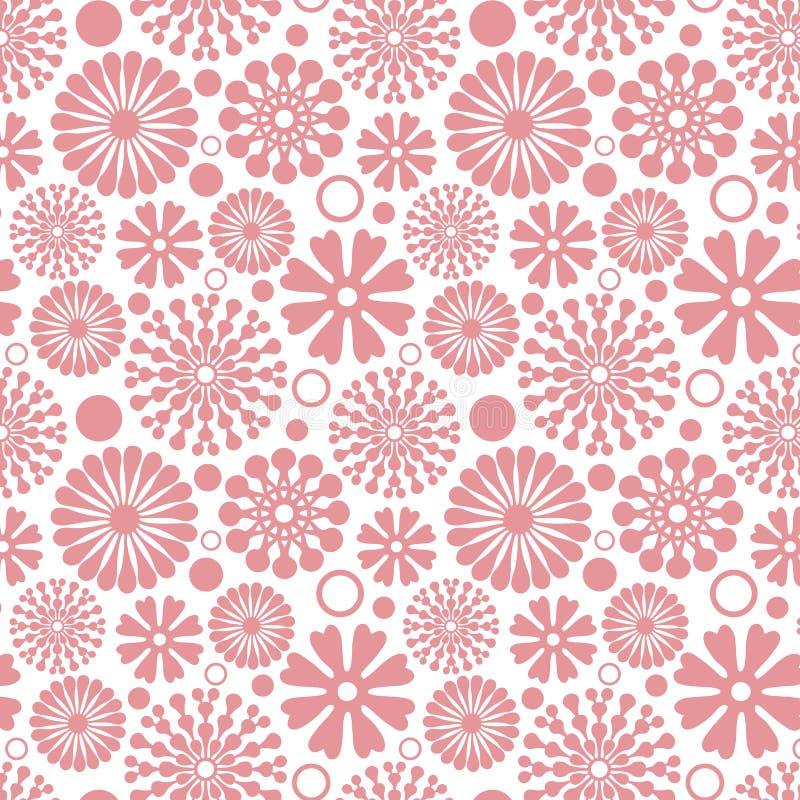 Безшовная розовая абстрактная картина вектора цветка иллюстрация штока