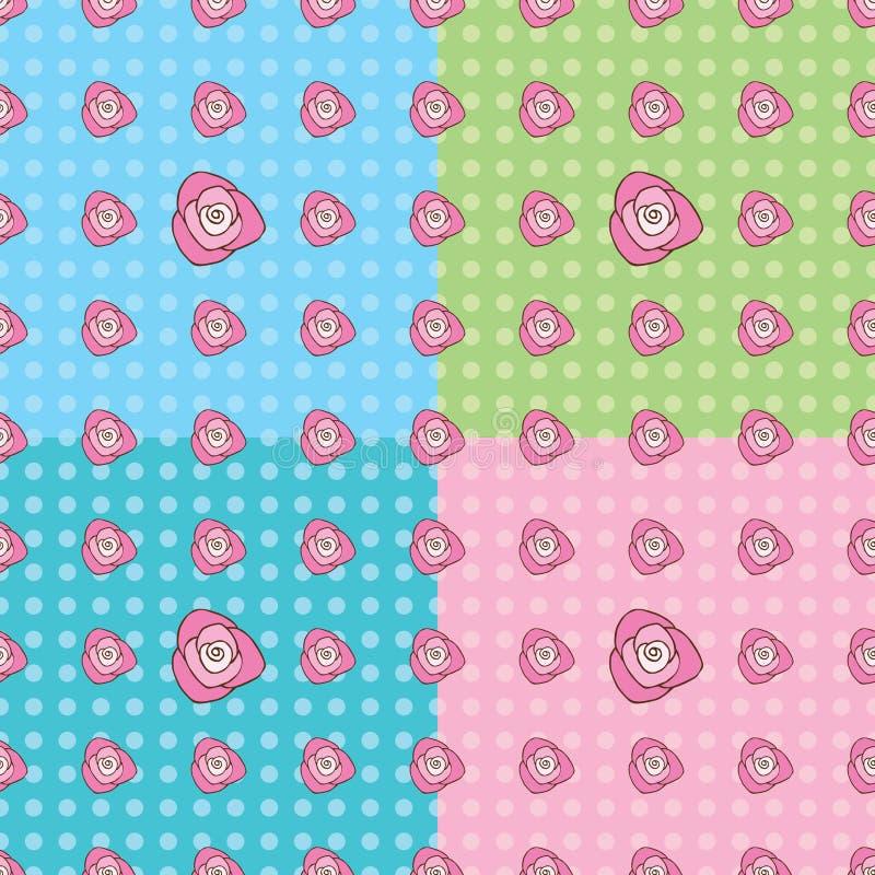 Безшовная розовая картина стоковое фото