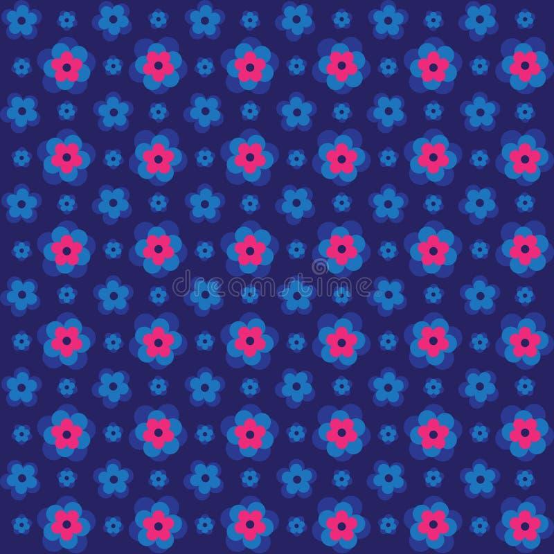 Безшовная розовая красочная выбитая картина предпосылки цветка 3d иллюстрация вектора