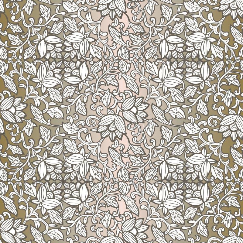 Безшовная роскошная картина с цветками Цветочный узор для приглашений, карт, печати, обруча подарка, производства, ткани, ткани,  бесплатная иллюстрация