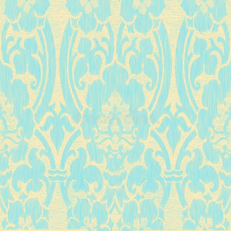 Безшовная светлая абстрактная striped предпосылка года сбора винограда цветочного узора иллюстрация вектора