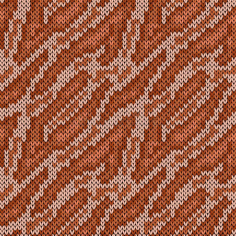 Безшовная связанная коричневая картина камуфлирования иллюстрация штока